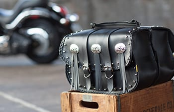 Leather and Vinyl Saddlebags