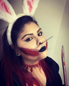 Halloween Killer Bunny Special FX Makeup Look