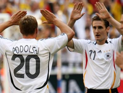 Miro Klose and Lukas Podolski