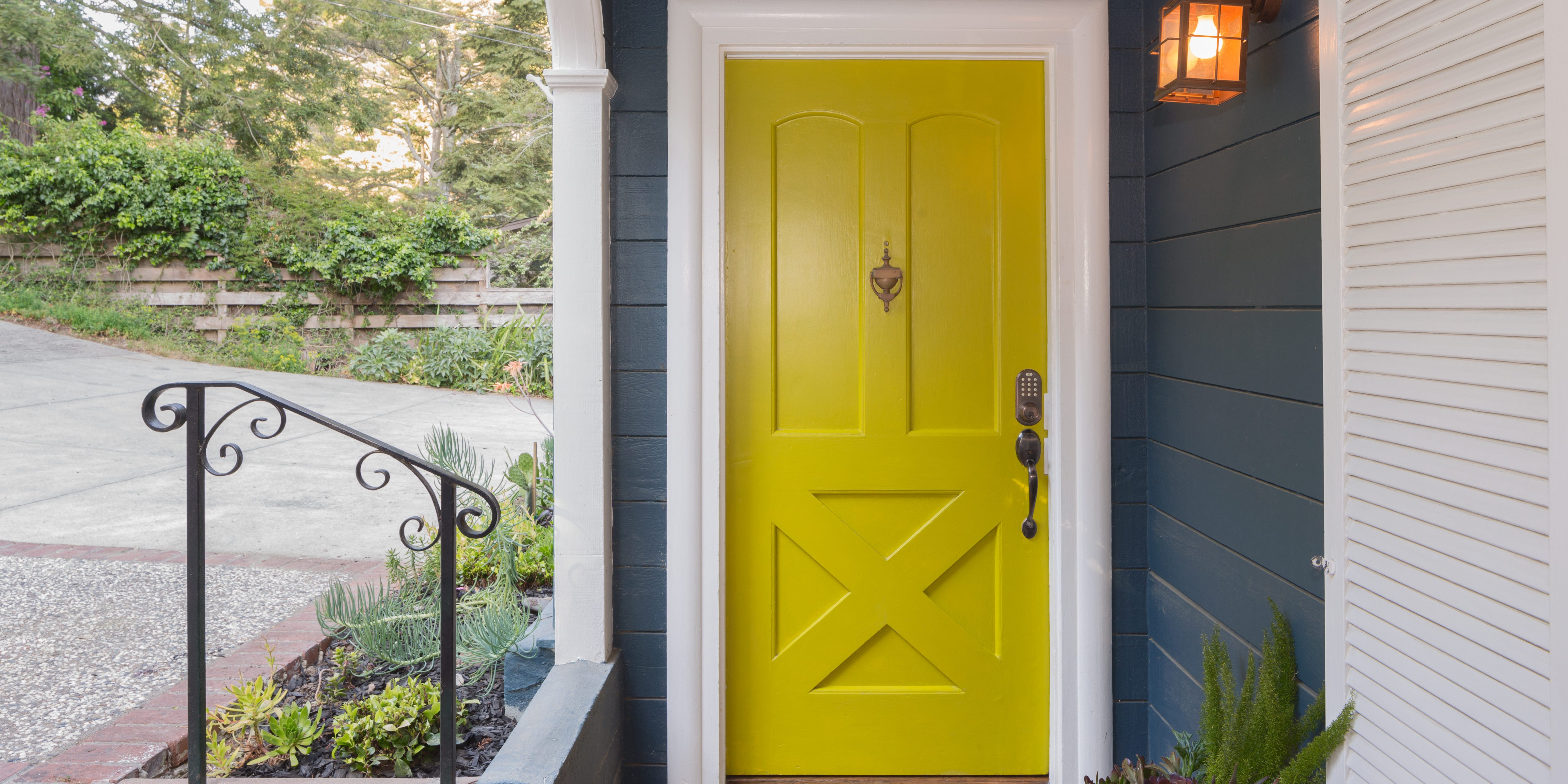 Yellow Feng Shui Front Door