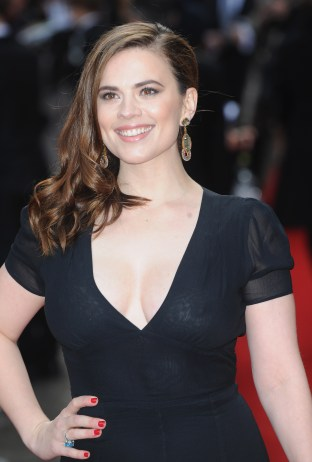 March 29, 2015 - London, England, United Kingdom - Hayley Atwell arrives for the Jameson Empire Awards 2015 at Grosvenor House Hotel. (Credit Image: © Ferdaus Shamim/ZUMA Wire)