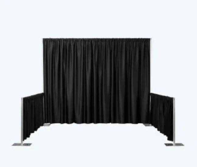 pipe and drape trade show booth black drape