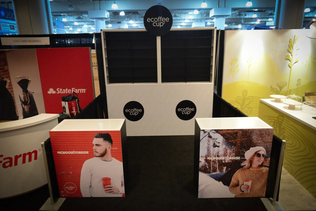 trade show booth branding and print