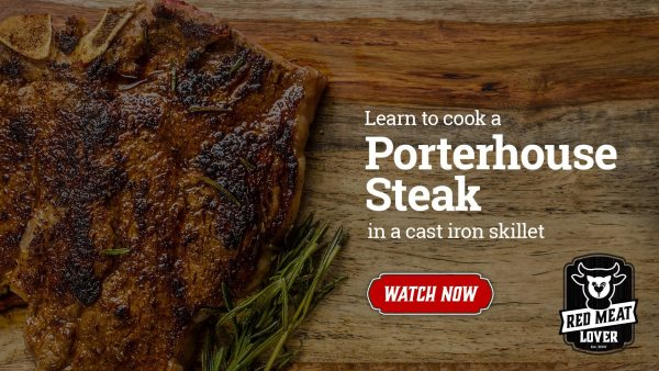 Porterhouse Steak cast iron skillet video recipe