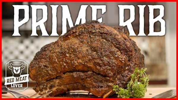 prime rib in oven