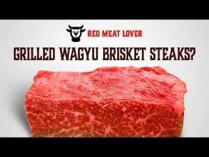grilled wagyu brisket steaks