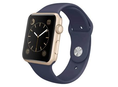 curea albastra apple watch din silicon