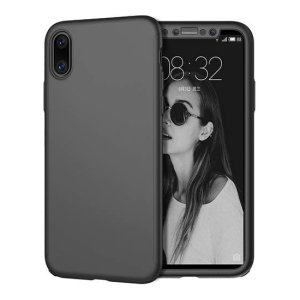 husa completa 360 apple iphone x neagra