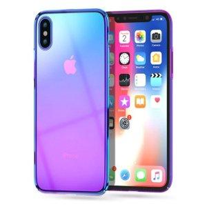 husa fashion apple iphone xs max mov-albastru transparent