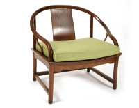 Baker Far East Lounge Chair | red modern furniture