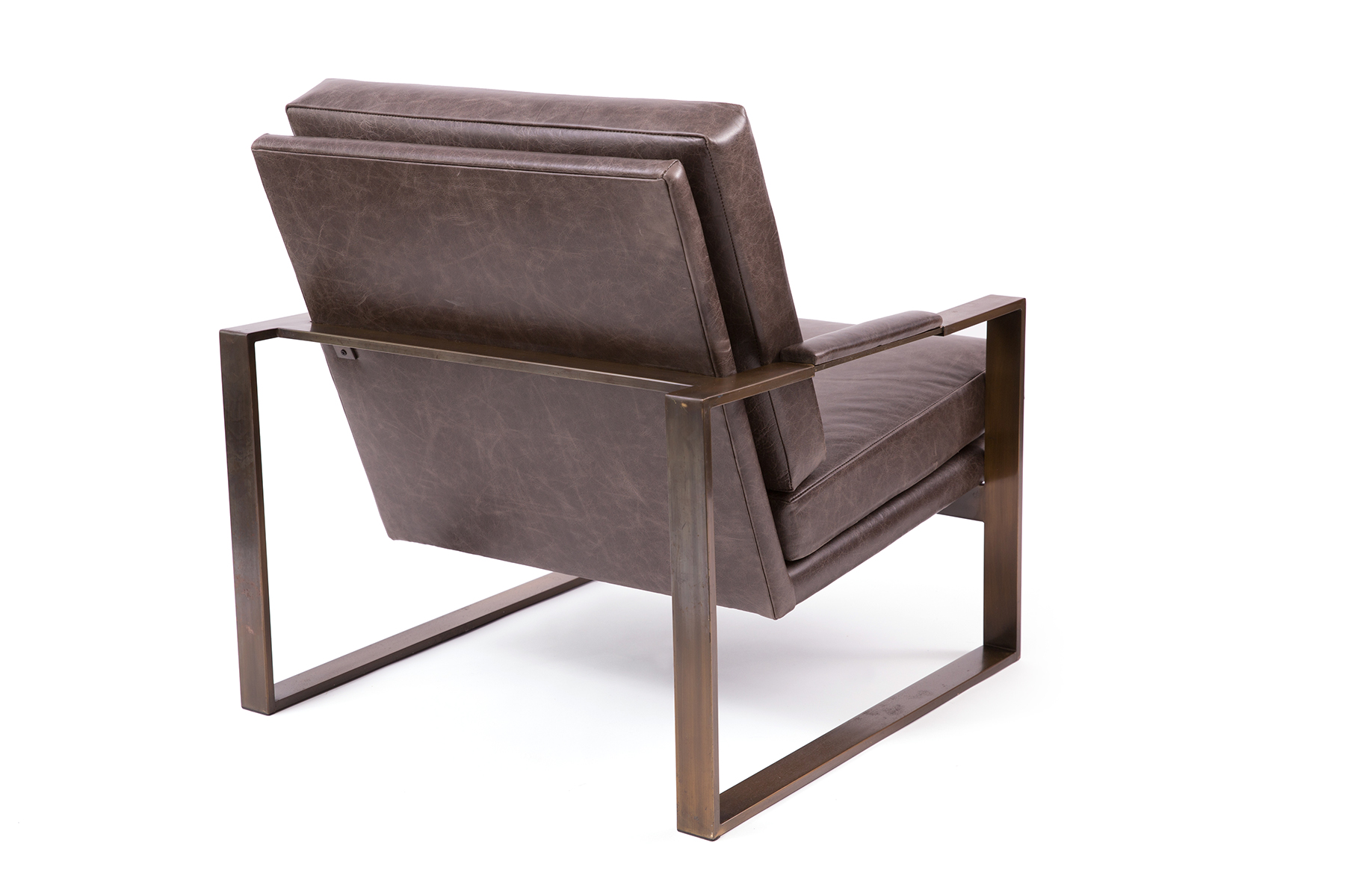 Milo Baughman Chairs Milo Baughman Thayer Coggin Leather And Bronze Lounge Chairs