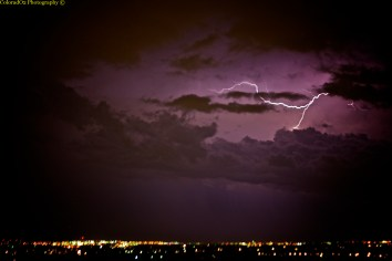 Strike from last night's storm!