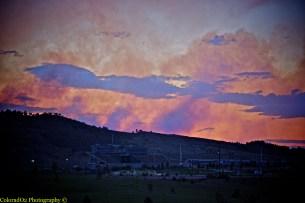 High Park Colorado Fire over CSU's Stadium