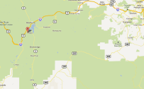 Screen-shot of Google Maps, Golden to Leadville.