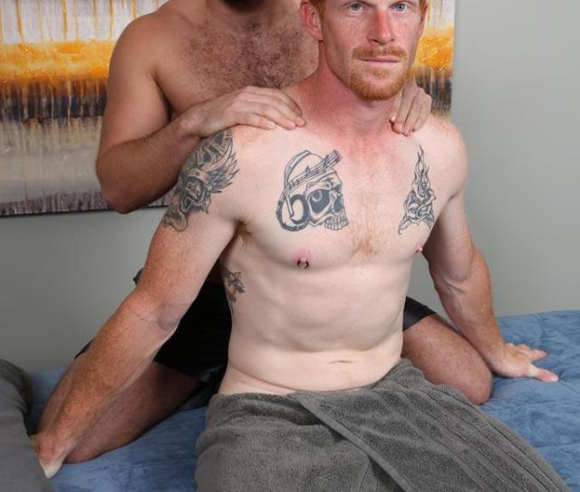 Straight Redhead Gets A Massage Rimming And Blow Job From Another Guy