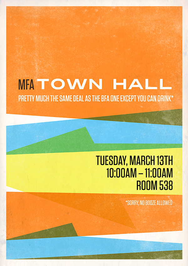 Town Hall Posters  Welcome to Room557