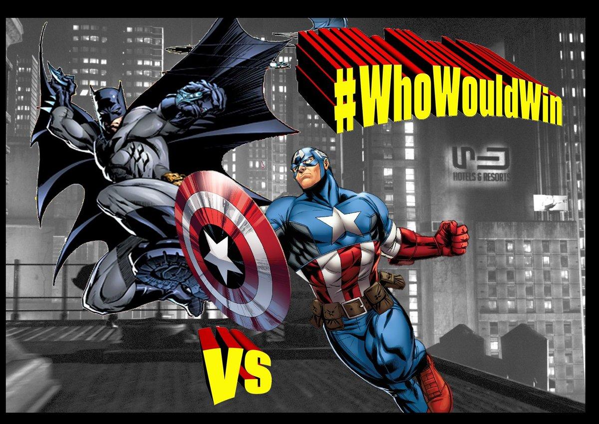 #WhoWouldWin: Batman vs Captain America!