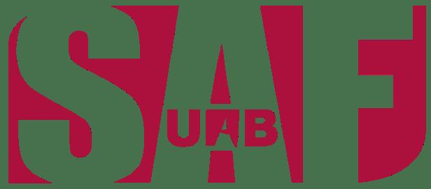 SAF is the official sports center of UAB univerity. I've been their graphic designer for the last three years._______El SAF es el centro deportivo de la universidad UAB. He sido su diseñador gráfico durante los últimos tres años.