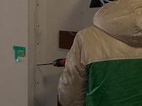 アンカーピンニング全面エポキシ樹脂注入工法 残存浮き部削孔