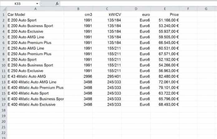Excel dosyasını InDesign: tablosuna € olarak aktarın