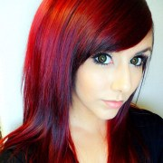 red ombre hair care