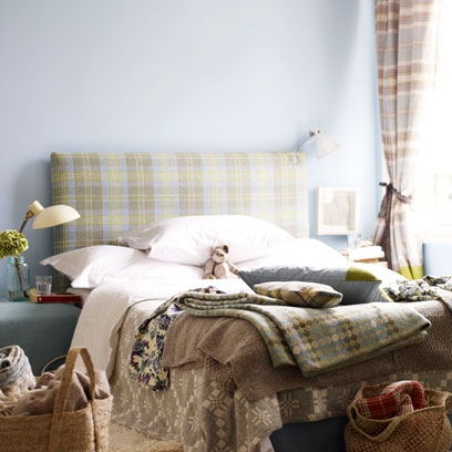 modern living room decorating ideas uk in tartan fabric: using colour and pattern: ...