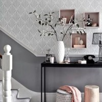 Hallway Ideas to steal | Floor and wallpaper ideas - Red ...