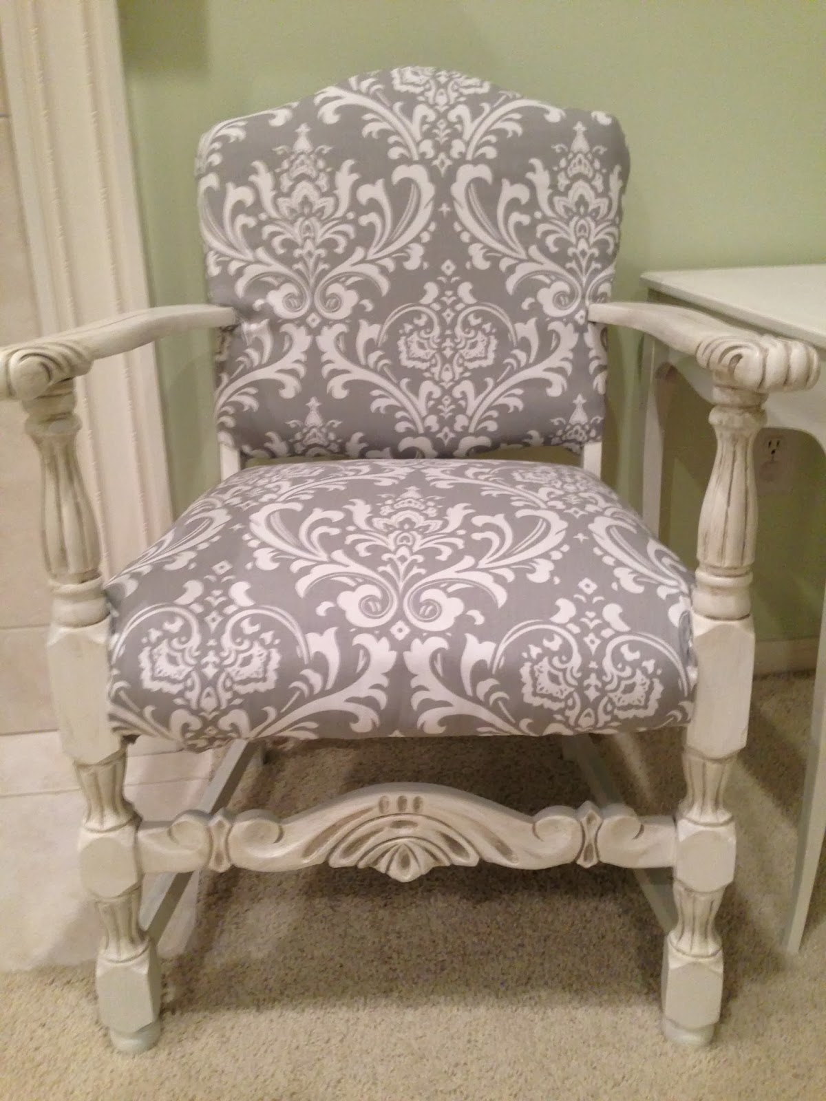 Grey Upholstered Chair Link Party 128 Refurbished Furniture Link Party And Features