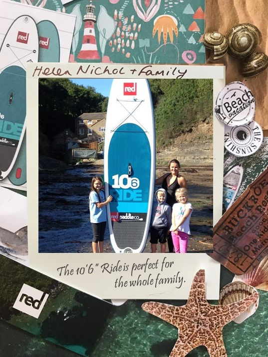 Family with their inflatable Paddle Board