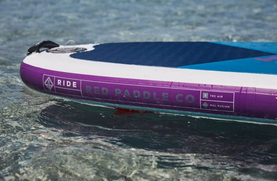 Close up of 2018 special edition purple inflatable paddle board