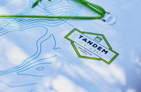 Logo for red paddle co's Tandem paddle board