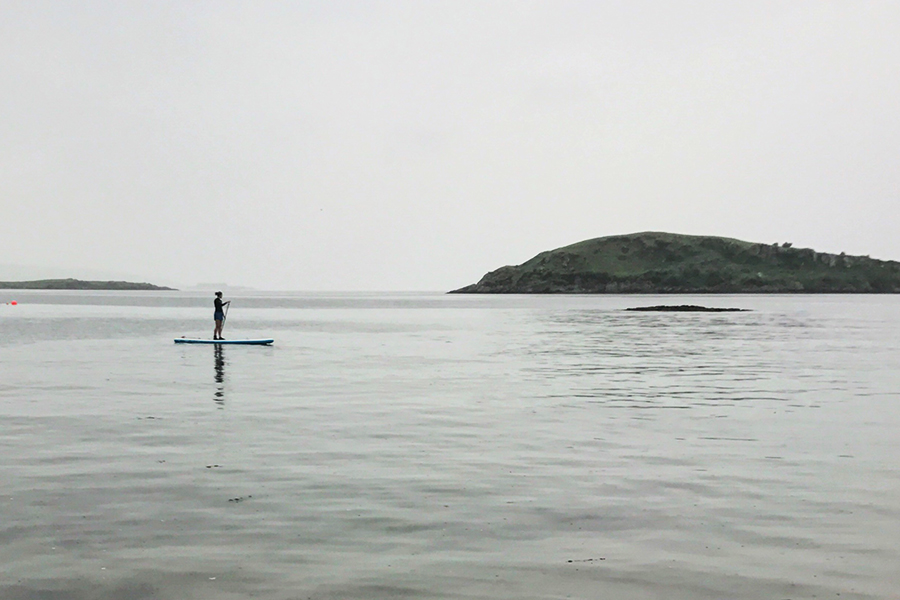 paddle boarding in oban