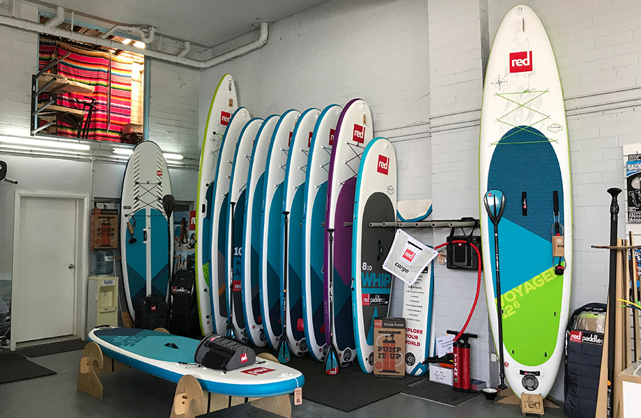stand up paddle board display