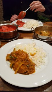 Vegetable Balti and Chicken Tikka Masala