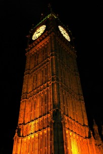 Big Ben at night.