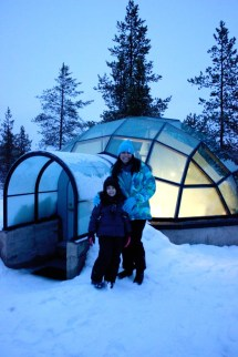 Northern Lights Glass Igloo In