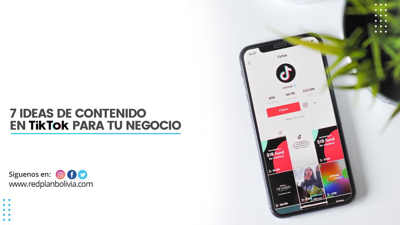 7 ideas de contenido en TikTok para tu negocio