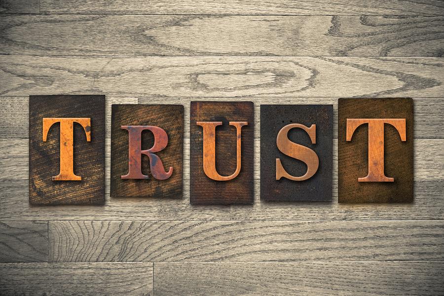 Trust Wooden Letterpress Concept