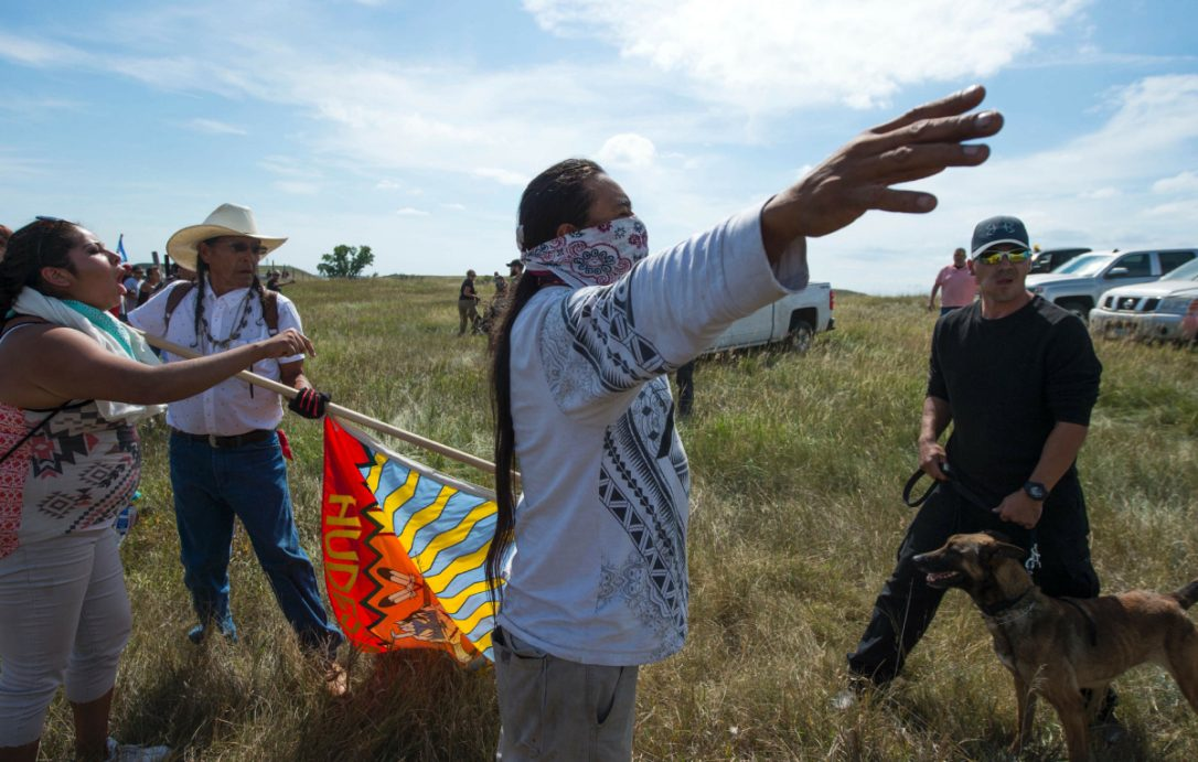 North Dakota Pipeline Protest Turns Violent After Tribe's Sacred Sites Destroyed