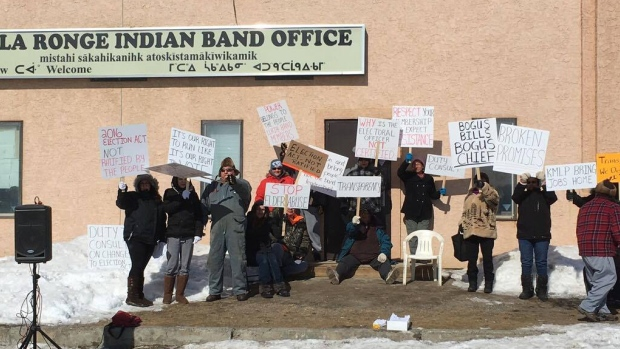 Lac La Ronge Indian Band Members Protest Election Disqualification