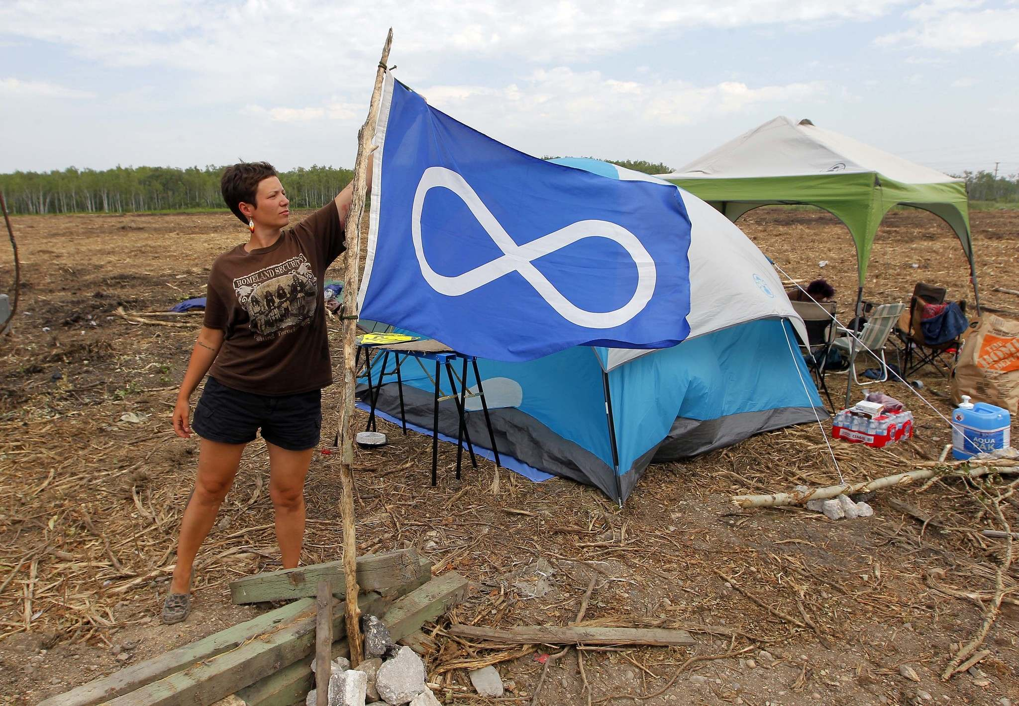 Protesters Camp Out to Save Parker Wetland Trees from Clearcut