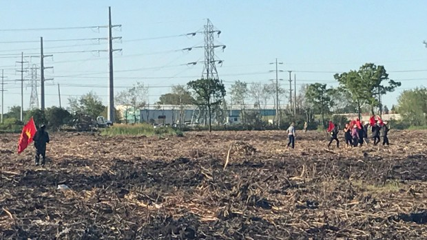 Protesters Surround Machinery to Protect Winnipeg's Parker Lands