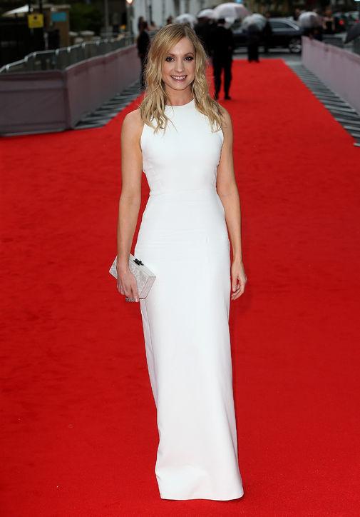 Joanna Froggatt looks striking and sexy in Victoria Beckham.