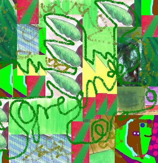 Green Remix with Paint