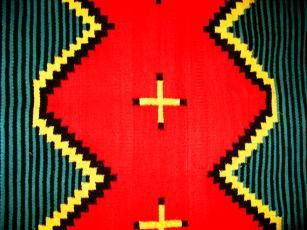 Zigs and Zags, Mexican rug detail, photo by ybonesy, July 19, 2007