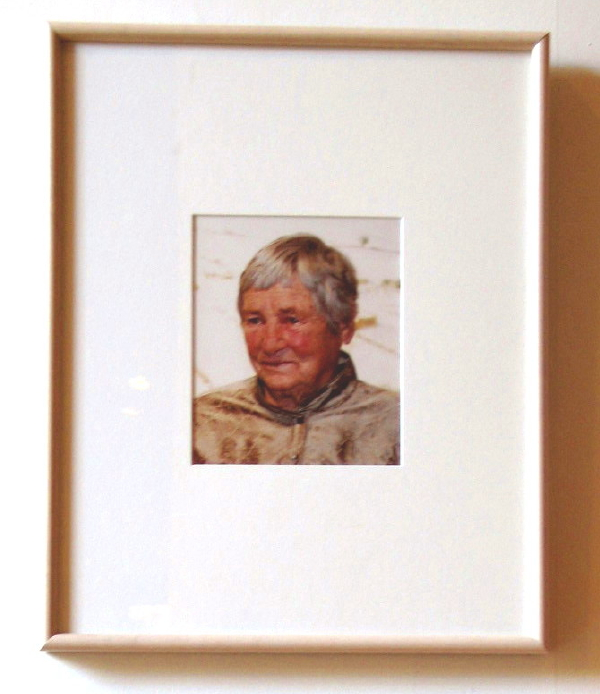 Agnes Martin, crop of Agnes Martin photo, Harwood Museum, Taos, New Mexico, July 2007, photo © 2007 by QuoinMonkey. All rightsreserved.