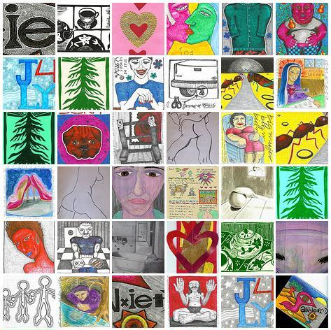 A subset of my doodles on Flickr