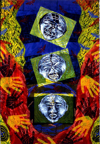 "Altitude Without Dimension, oil on paper, 44"" x 30"", 1990, painting © 1990-2009 by Cathy Wysocki, all rights reserved"