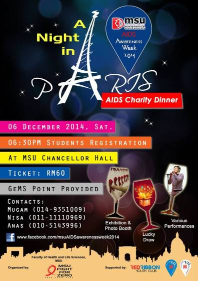 A Night in Paris - AIDS Charity Dinner