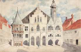 Painting of the City Hall in Hildesheim (Undated)